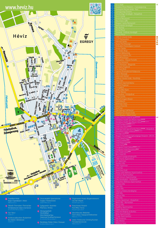 hévíz térkép Hévíz | West Balaton.hu