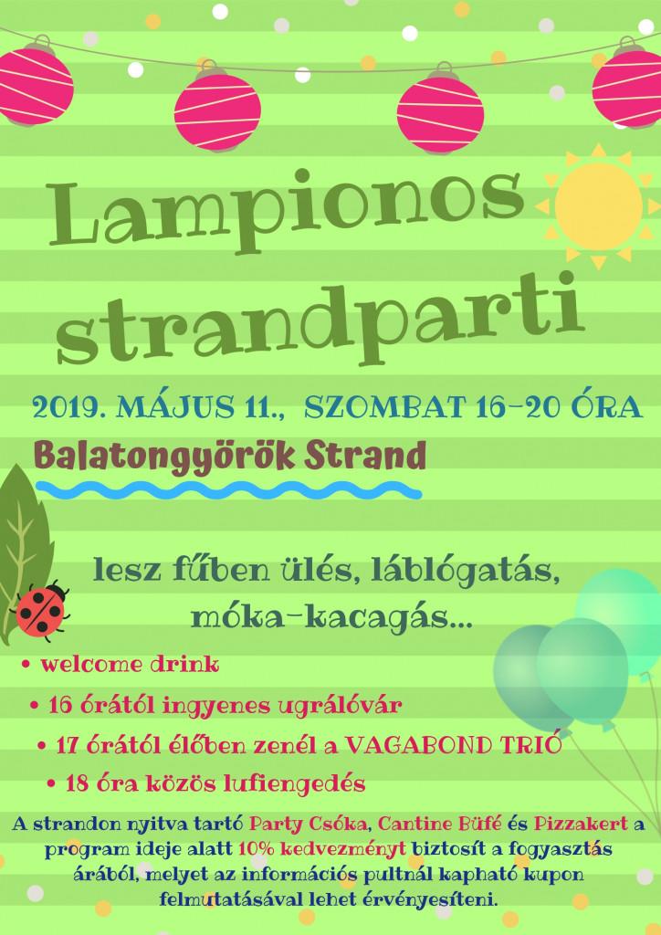 Lampionos strandparti plakát