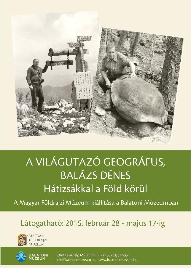A Magyar Földrajzi Múzeum kiállítása a Balatoni Múzeumban