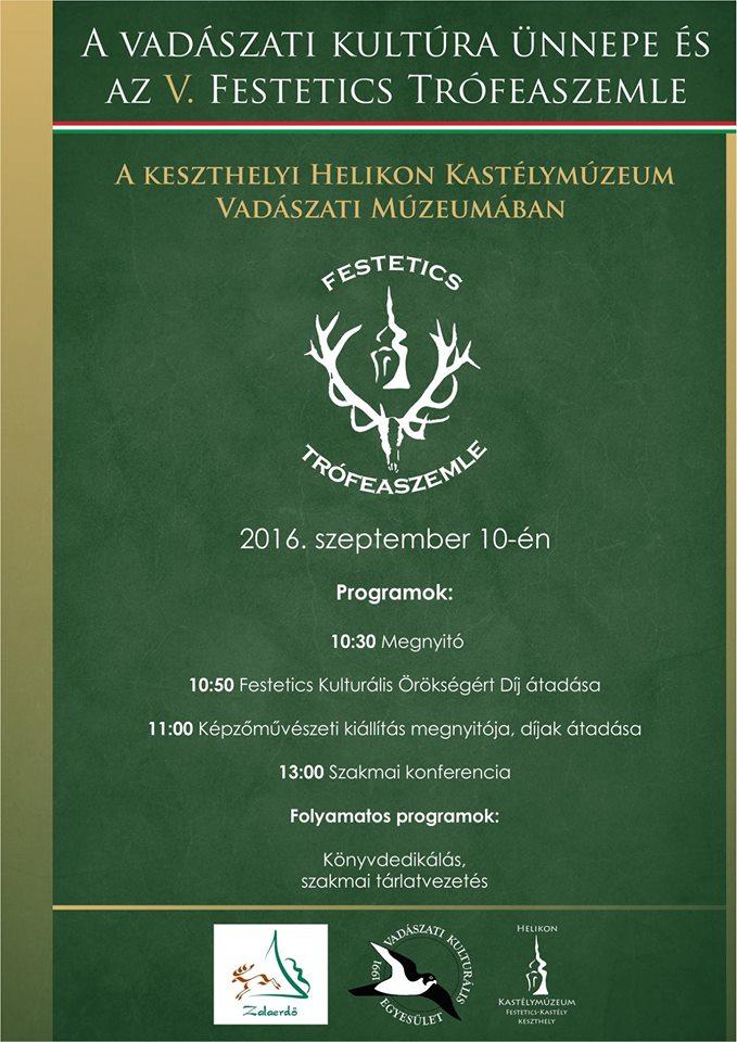 A vadászati kultúra ünnepe és V. Festetics trófeaszemle