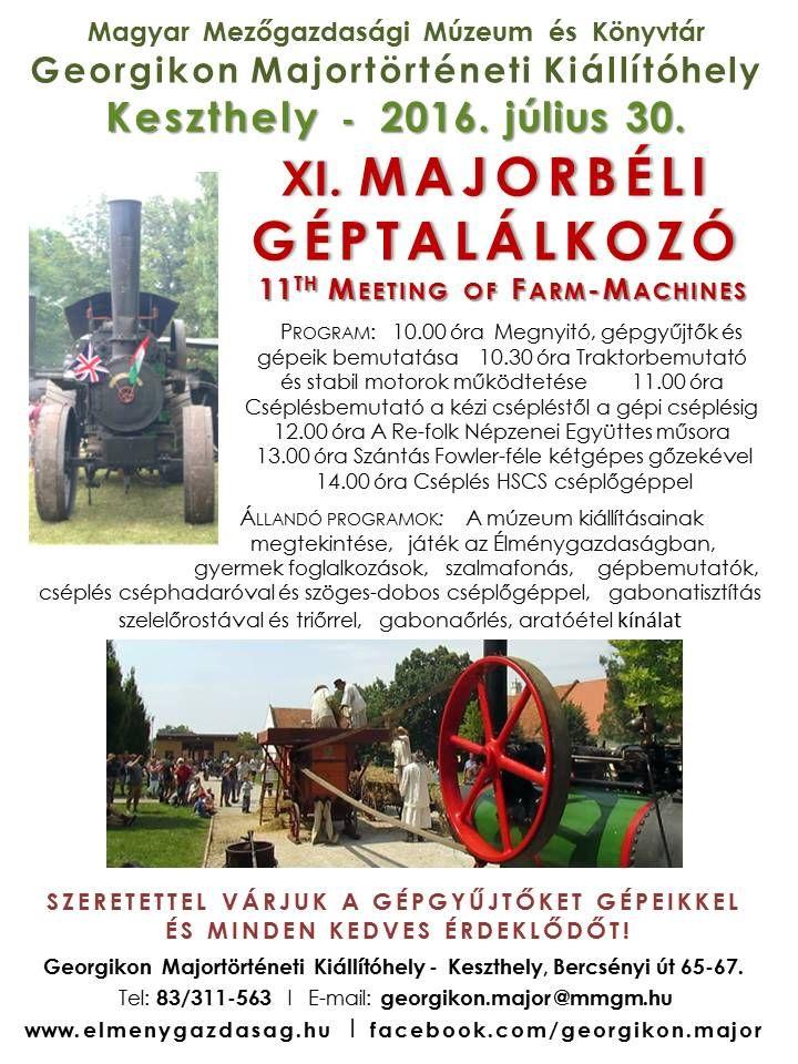 11. MAjorbéli géptalálkozó Keszthelyen a Georgikon Majormúzeumban