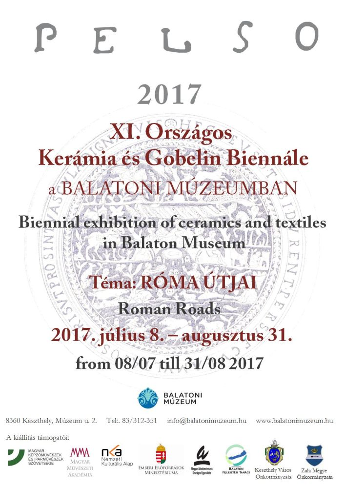 Pelso 2017 - XI. Országos Kerámia és Gobelin Biennálé Keszthelyen a Balatoni Múzeumban