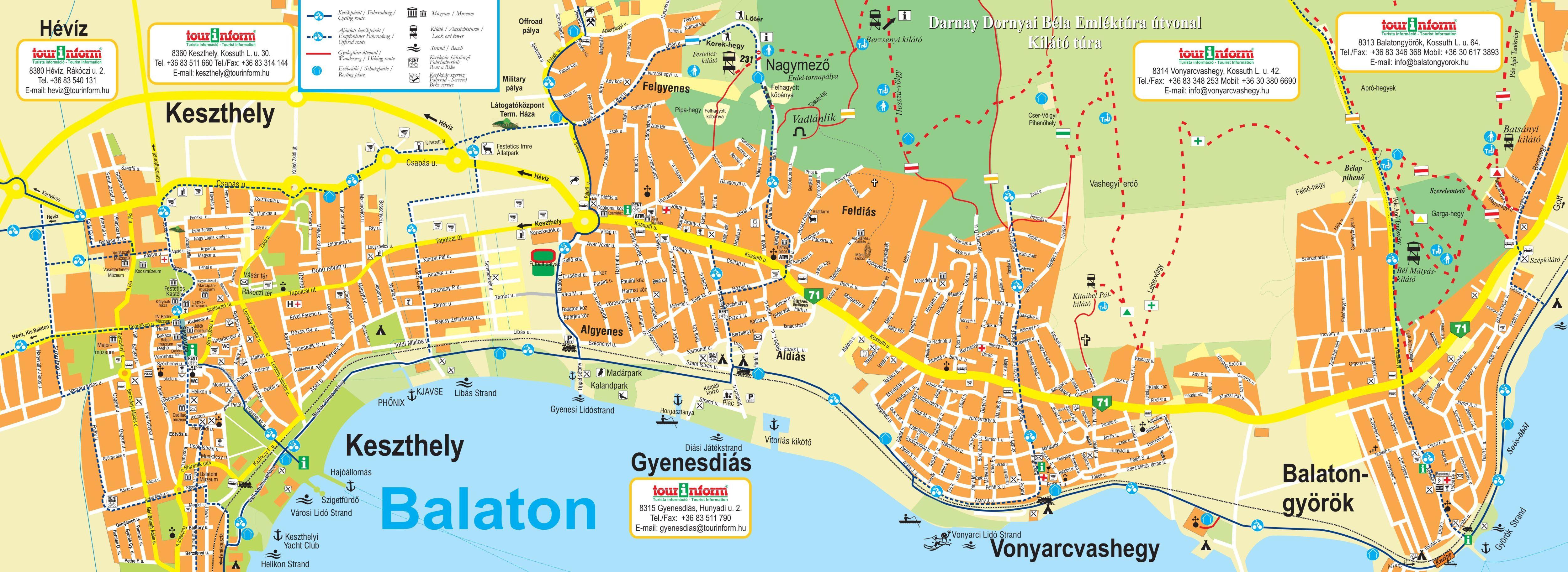 balaton látnivalók térkép West Balaton Sétatérkép | West Balaton.hu balaton látnivalók térkép
