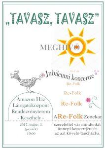 Tavasz, tavasz - a Re Folk zenekar jubileumi koncertje és táncház  Keszthelyen az Amazon Házban