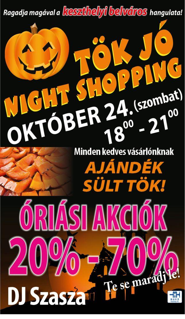 Night shopping Keszthelyen