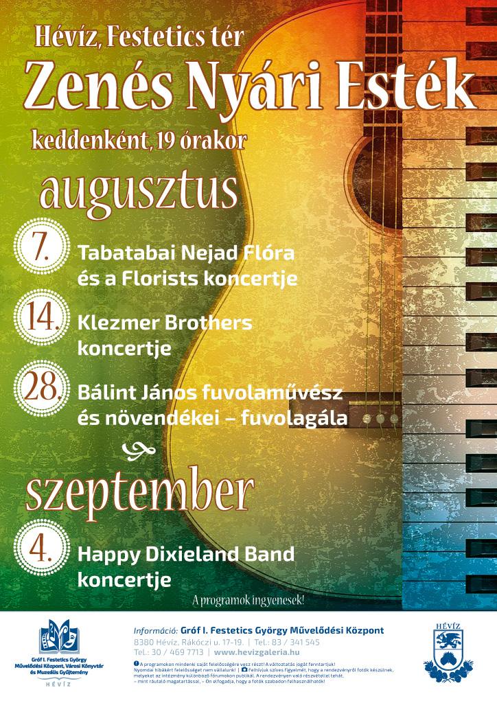Zenés Nyári Esték augusztus szeptember