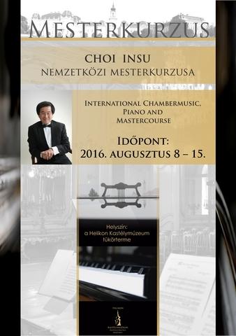 Choi  Insu zongoraművész-tanár mesterkurzusa Keszthelyen