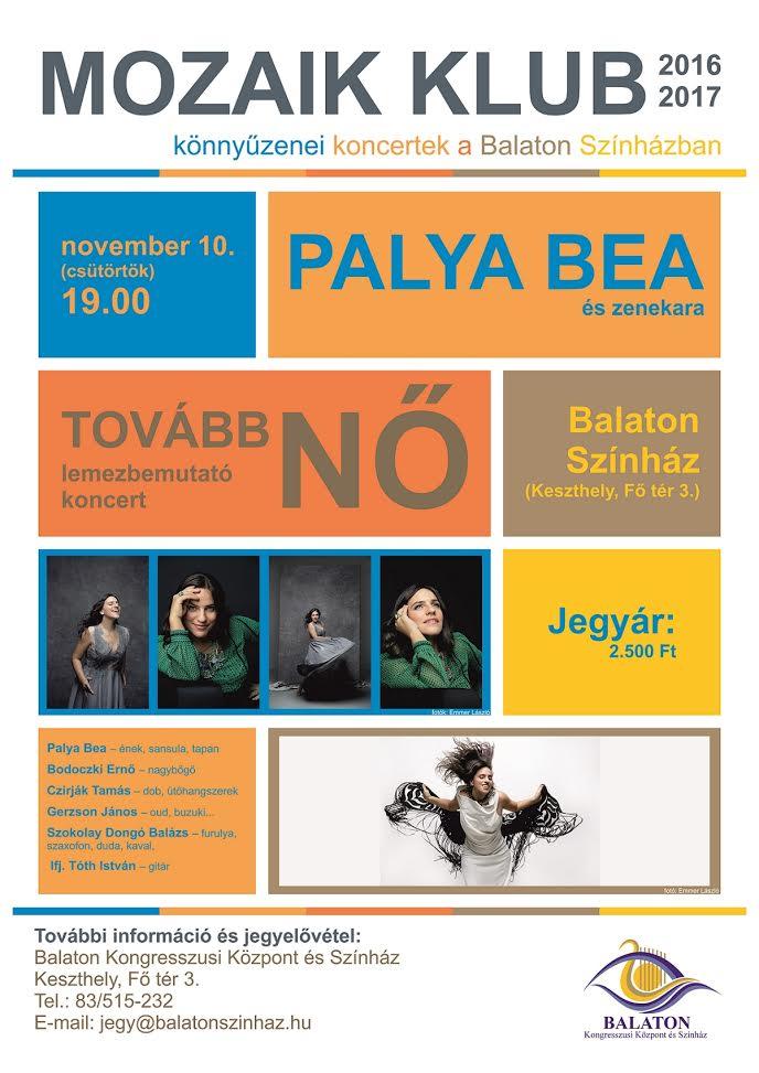 Palya Bea: Tovább nő  koncert a keszthelyi Balaton Színházban