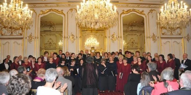 A keszthelyi Helikon kórus koncertje a Festetics kastély tükörtermében
