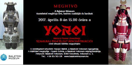 A szamuráj útja - kiállítás a keszthelyi Balatoni Múzeumban