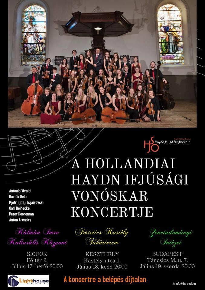 A holland Haydn  Ifjúsági Vonóskar koncertje Keszthelyen a Helikon Kastélymúzeumban