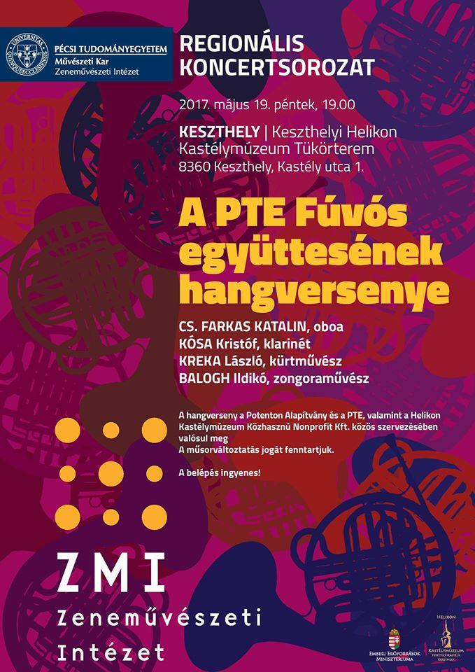 A PTE Fúvósegyüttesének koncertje Keszthelyen