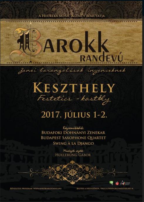 Barokk randevú - kétnapos zenés rendezvény Keszthelyen a Festetics Kastélyban
