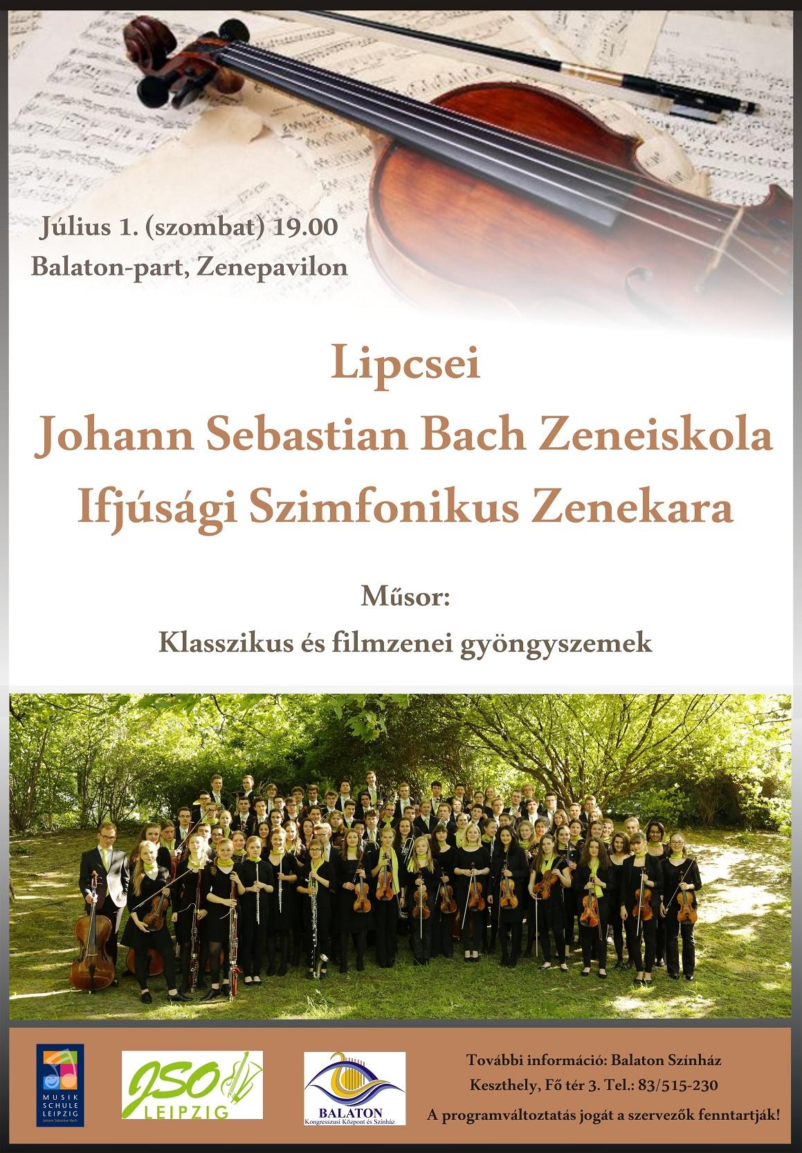 Lipcsei Johann Sebastian Bach Zeneiskola Ifjúsági Szimfonikus Zenekara Keszthelyen
