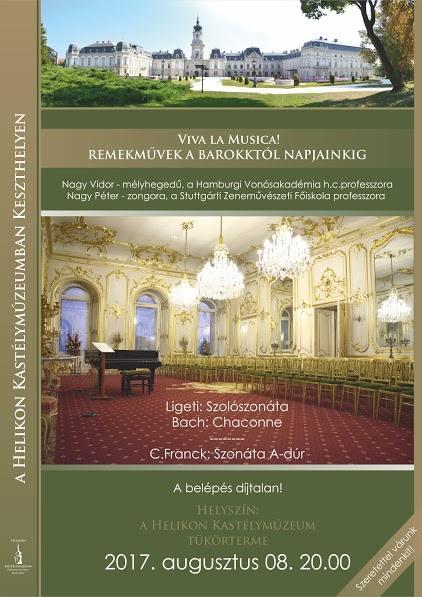 viva la musica - Remekművek a barokktól napjainkig a keszthelyi Festetics kastélyban