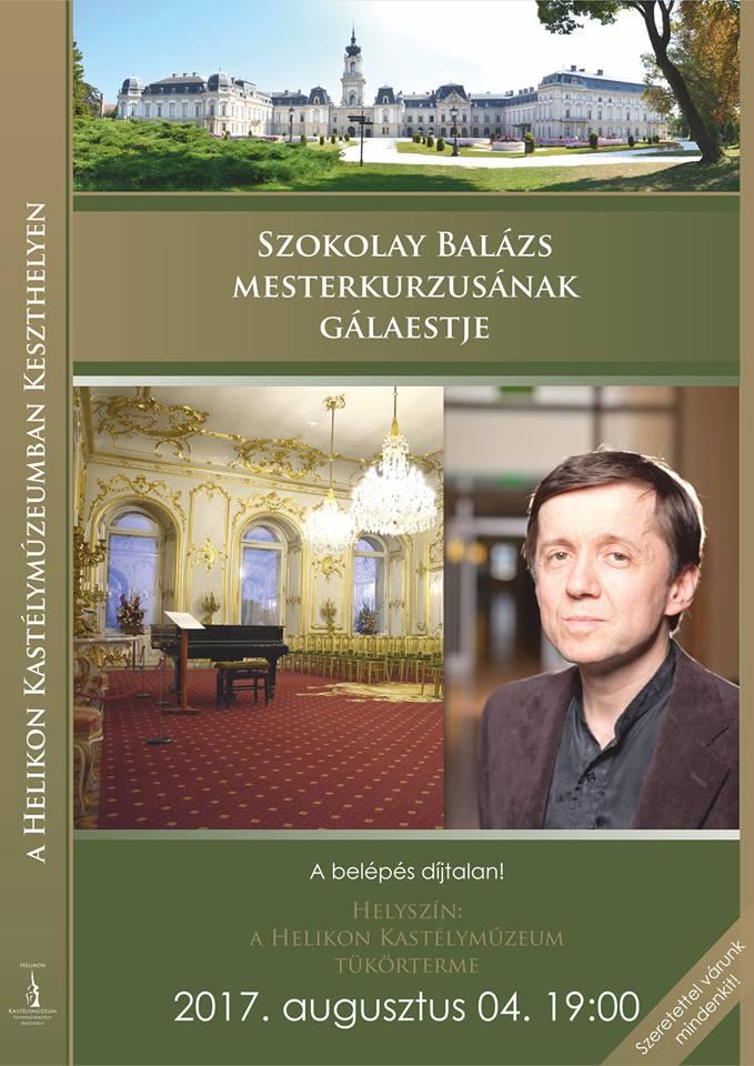 Szokolay Balázs mesterkurzusának gálaestje Keszthelyen a Helikon Kastélymúzeumban