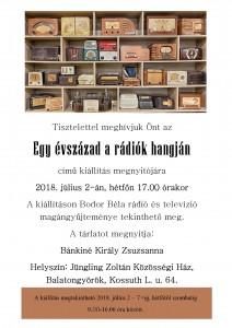 Meghívó - Rádiókiállítás