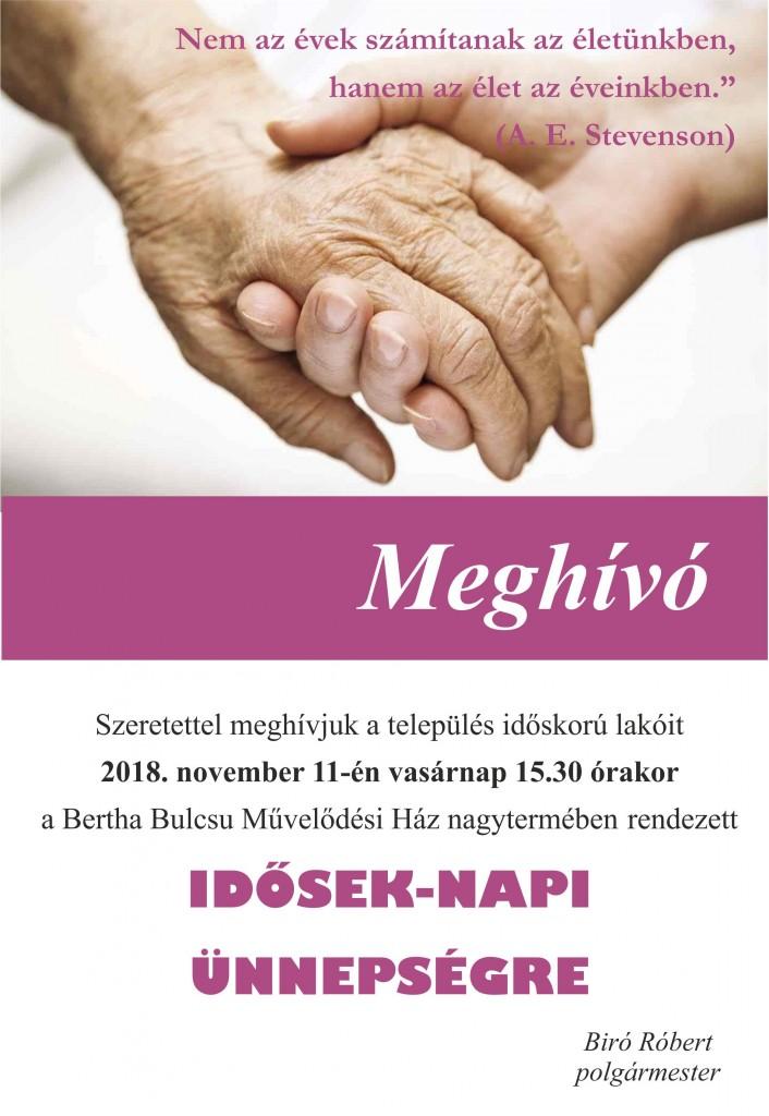 idősek napi meghívó 2018