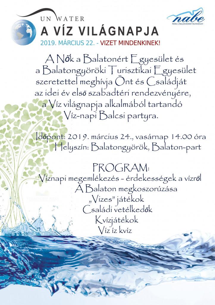Víznapi Balcsi-party plakát