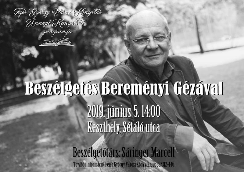 Beszélgetés Bereményi Géza filmrendezővel Keszthelyen a sétálóutcán