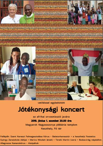 jótékonysági koncert az afrikai orvosmisszió javára