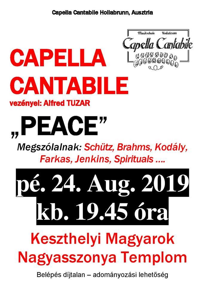 Peace - A Capella Canatible kórus koncertje Keszthelyen a Magyarok Nagyasszonya templomban