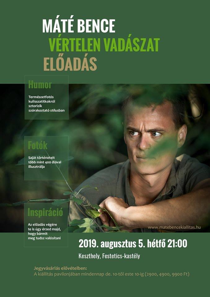 Vértelen vadászat - Máté Bence természetfotós előadása Keszthelyen a Helikon Kastélymúzeumban